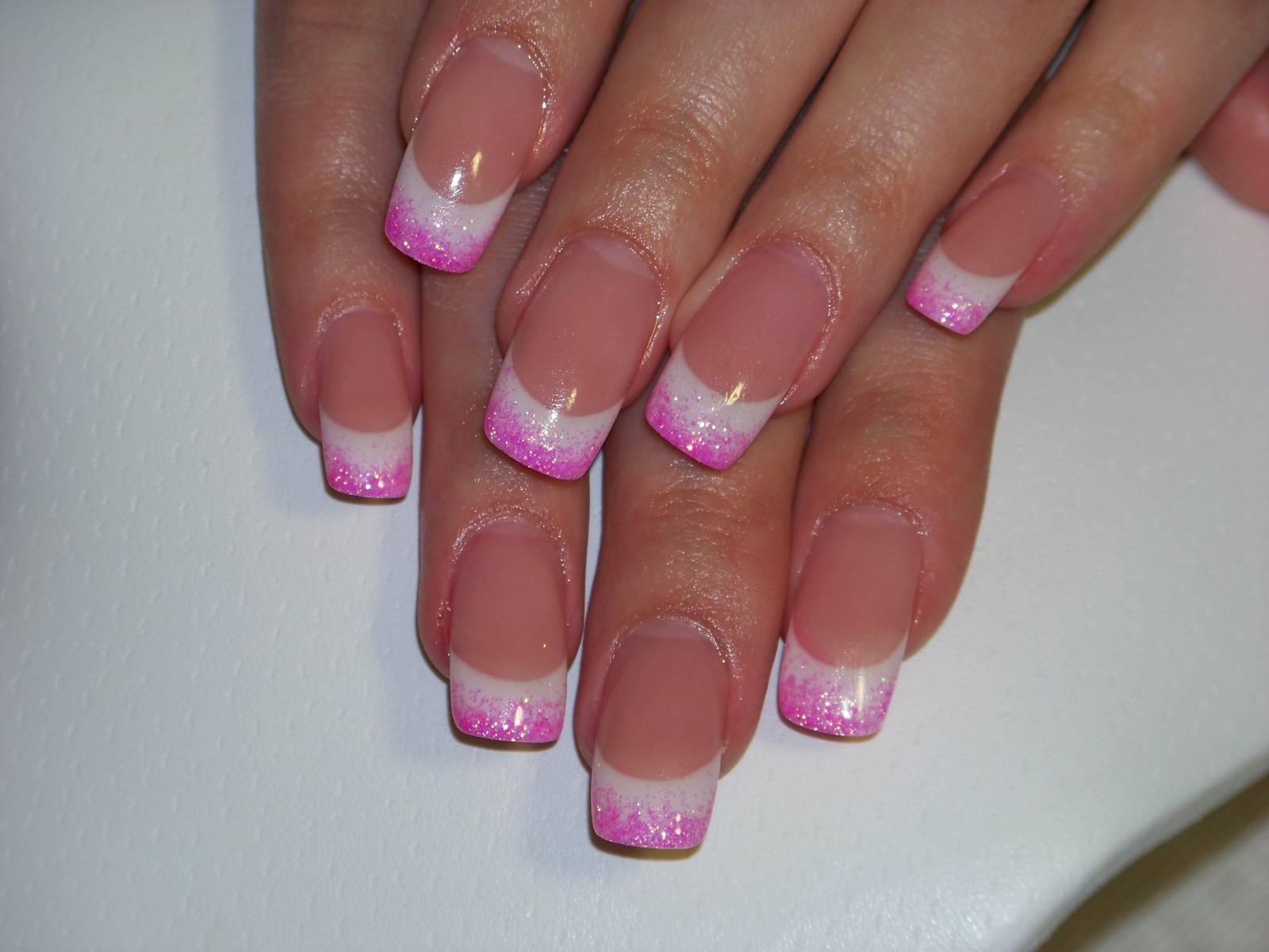 Наращивания ногтей французский маникюр фото